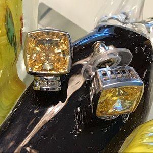 Jewelry - Canary Yellow CZ Studs